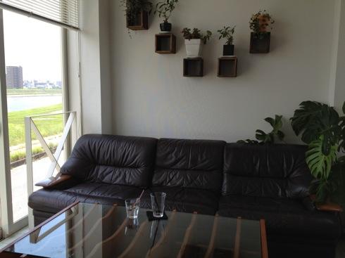 広島のcafe 川辺の四季 ソファー席