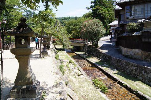 宮島 厳島神社裏の納涼スポット