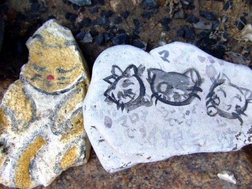 猫石コレクション 鞆の浦にて