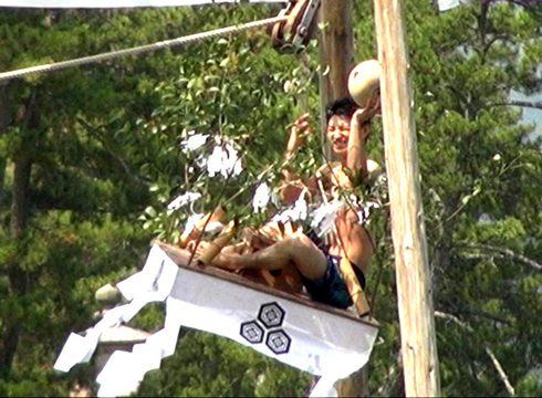 宮島 厳島神社の 玉取祭の様子 画像1
