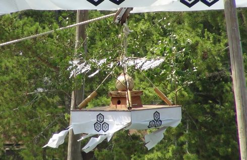 宮島 厳島神社の 玉取祭の宝珠 画像