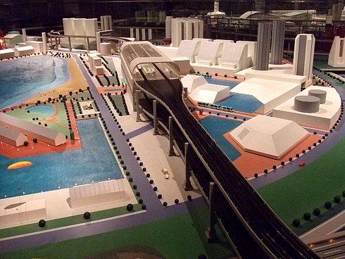 広島市交通科学館 ビークルシティ模型のアップ画像