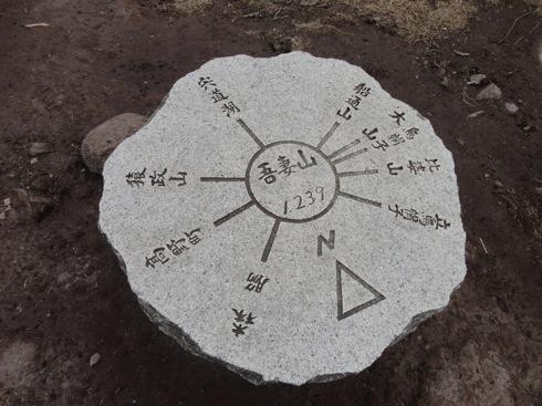 吾妻山(広島) 山頂の案内標示