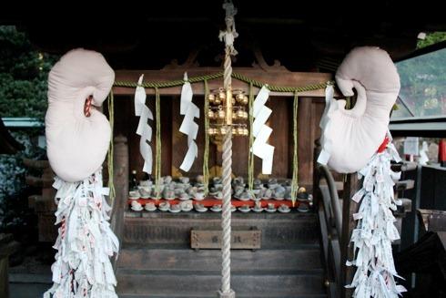 因島 大山神社の中の 耳明神社