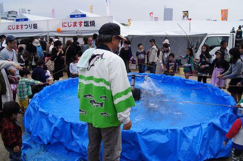 広島フードフェスティバル ニジマス釣り堀