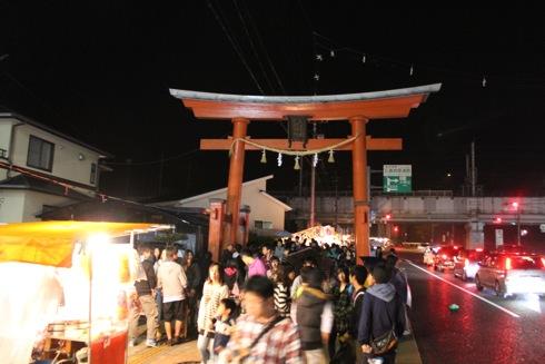 大頭神社 参道の鳥居 画像