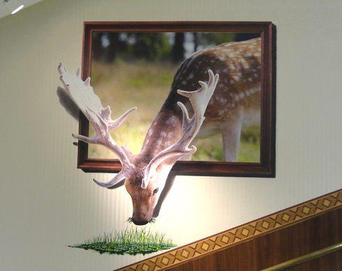 階段でトリックアート 「ドンキKAIDAN美術館」、ドンキホーテ広島八丁堀店3