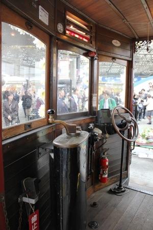 広島電鉄100周年 大正形電車 運転席