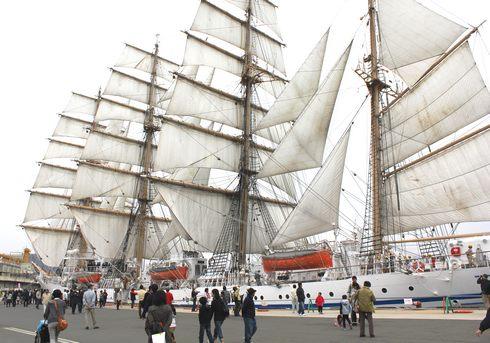 帆船 日本丸のセイルドリル 画像3
