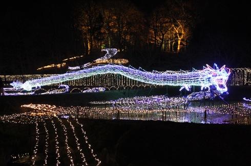 備北丘陵公園 イルミネーション2012 竜の画像