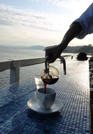 海と料理miya サイフォンでいれたコーヒー