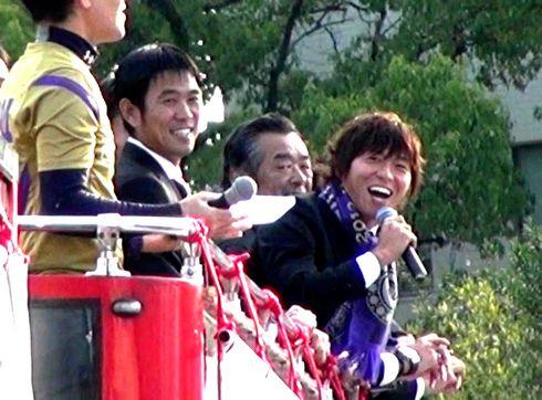 サンフレッチェ広島 優勝報告会で 寿人「広島を愛してます!」