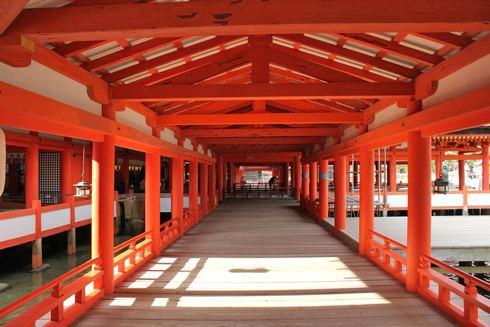 宮島 厳島神社 回廊の写真