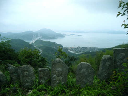 白滝山 五百羅漢 頂上からの景色