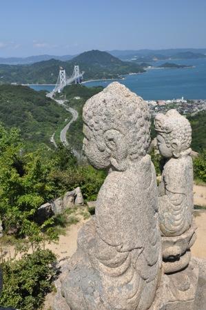 白滝山 五百羅漢、因島の360度絶景パノラマスポットへ