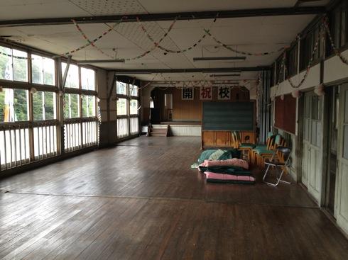 神石高原 学校食堂 昭和時代の講堂