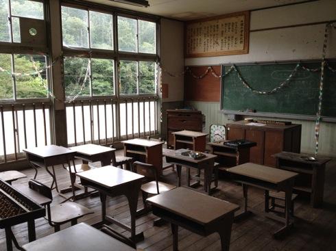 神石高原 学校食堂 昭和時代の教室