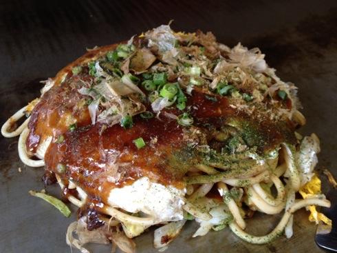 大竹 お好み焼き やまちゃん うどん肉玉