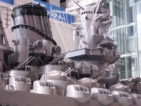 広島県呉市 大和ミュージアム 戦艦大和の10分の1サイズ