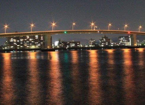 はつかいち大橋の夜景