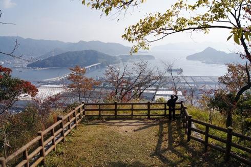 広島 黄金山 からの海側の眺め
