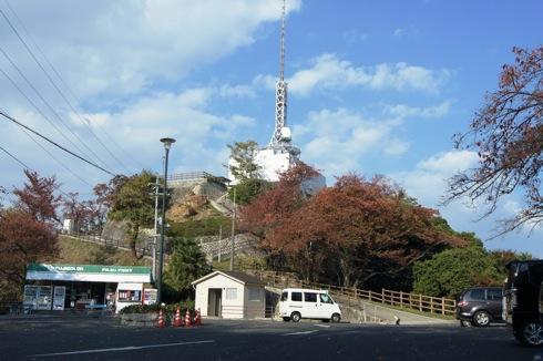 広島 黄金山の展望台とテレビ塔