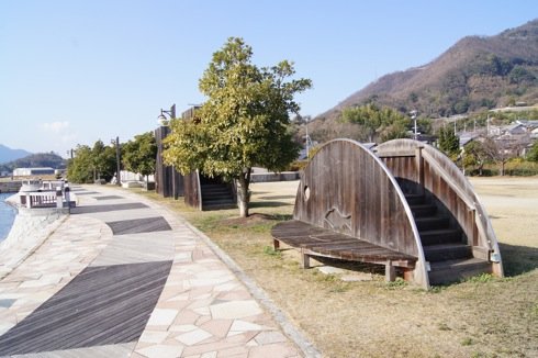沖浦港おさかな公園 おさかなの遊具