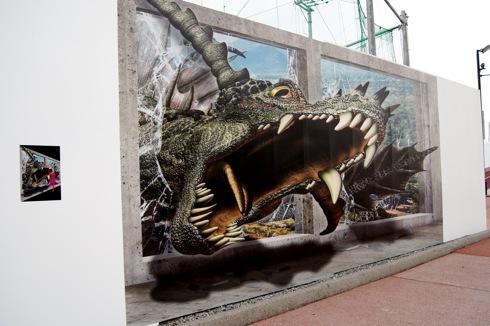 カープトリックランド ドラゴンのトリックアート