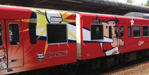 カープ電車 2013 ラッピングトレイン画像4