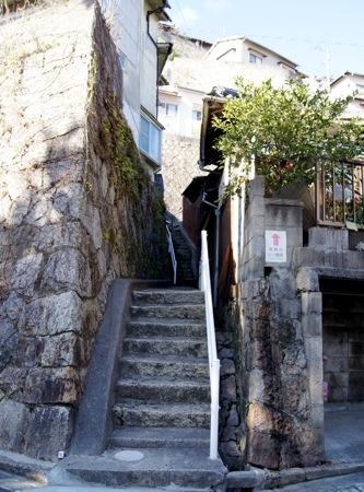 両城の200階段 入口