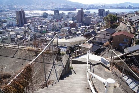 両城の200階段 からの呉の景色