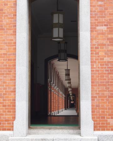江田島 旧海軍兵学校の生徒館(赤レンガ) 廊下