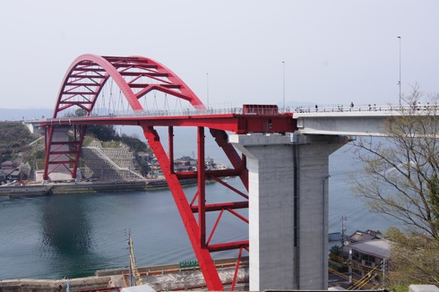呉の第二音戸大橋を渡ってみた!渡った先には塩の山