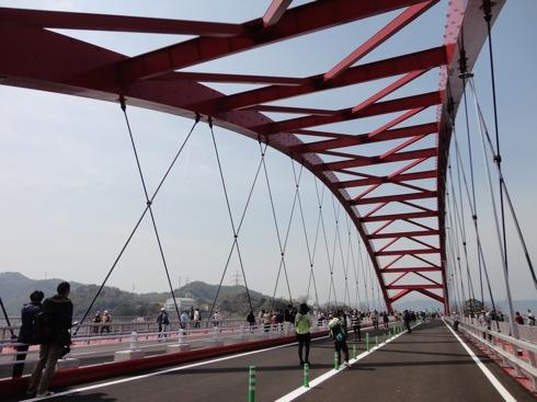 呉 第二音戸大橋 ウォーキングイベントの様子