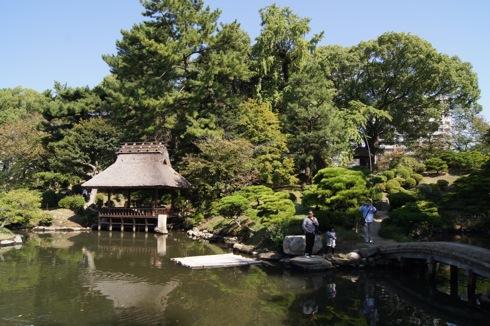 縮景園の池の画像2