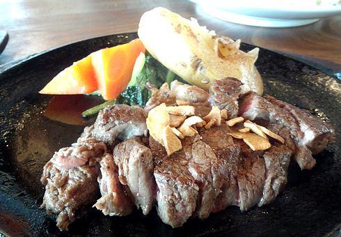 染と茶 可部店 ステーキ定食2