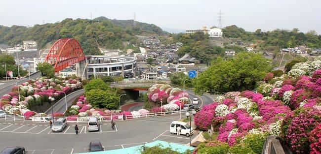 音戸大橋とつつじヶ丘から見下ろした風景