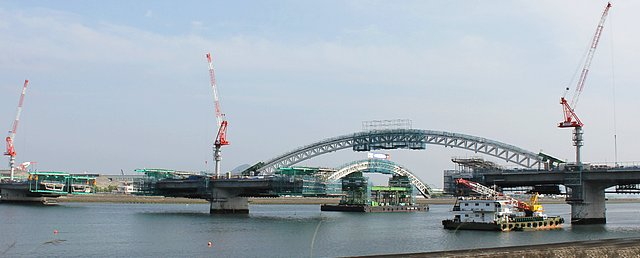 広島南道路 高速3号線と繋がる商工センターからの橋