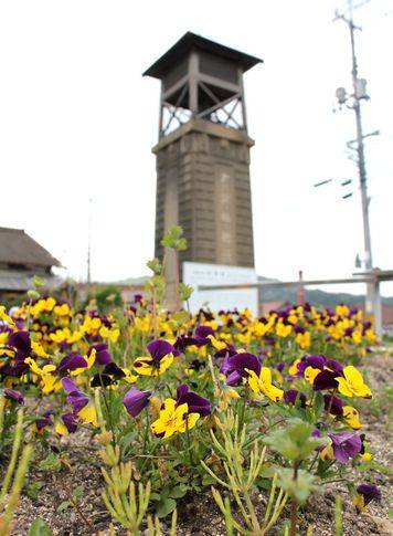 時報塔と花時計