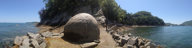 因島 地蔵鼻 正面からのパノラマ画像