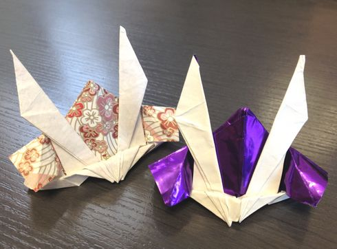 花 折り紙 かぶと折り紙折り方 : tabetainjya.com