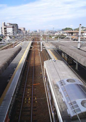 海田市駅 ホームの様子