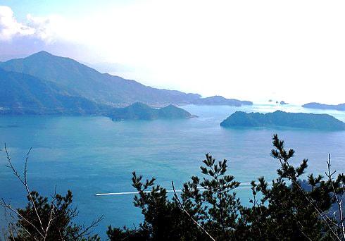 神峰山 古い展望台からの景色