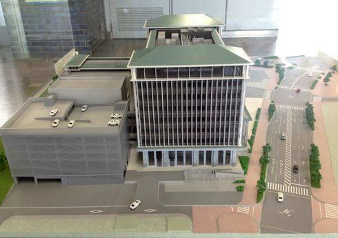 呉市新庁舎、呉市役所の完成イメージ 西側から見た様子