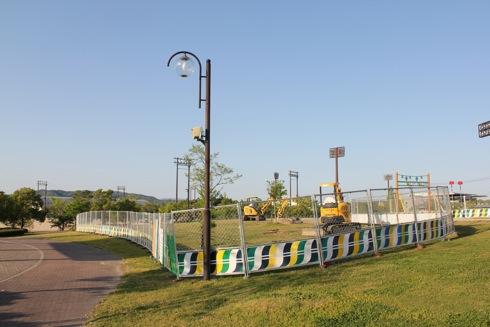みよし運動公園 遊具が工事中