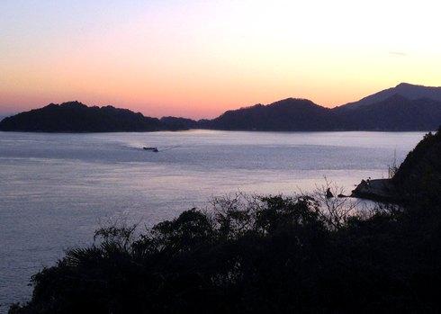 中ノ鼻灯台からの夕焼け