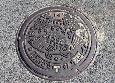 大崎上島のマンホール 大崎地区