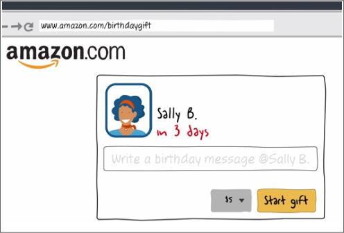 Facebook Amazonと連動、誕生日プレゼントを贈れるサービス開始