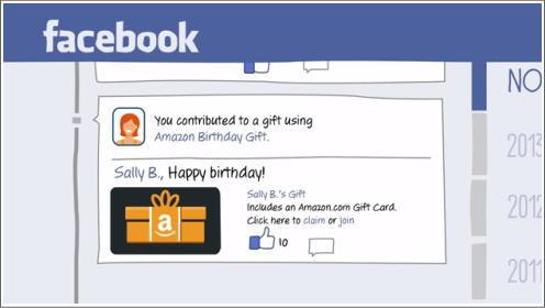 Facebook、誕生日プレゼントを贈れるサービス開始