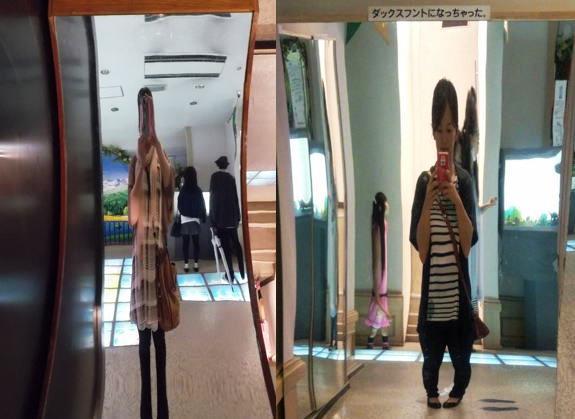 広島 ガラスの里 不思議な鏡